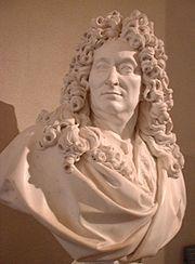 """Nicolas Boileau , buste part François Girardon - Boileau ambitionne une charge d'avocat au Parlement de Paris, après avoir songé à l'Eglise (il a reçu en 1647 la tonsure des clercs) mais l'année où il est admis au barreau (1656) il s'essaie à des satires qui ne seront tout d'abord que des """"copies à la main"""" circulant parmi ses familiers ou dans les cercles de la littérature."""
