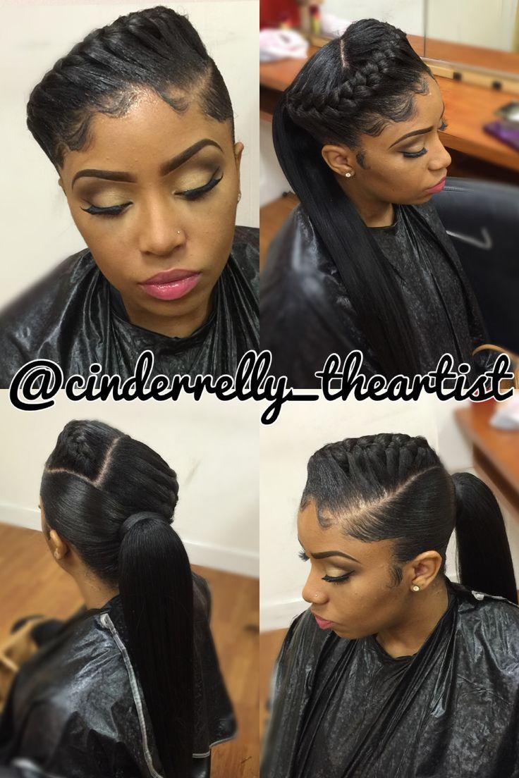 Underbraid and ponytail