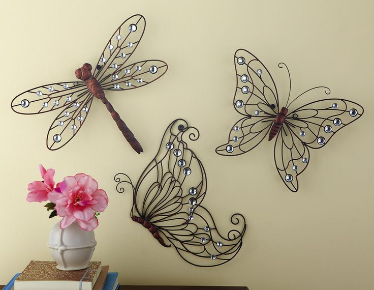 Metal Butterfly Wall Decoration : Images about butterflies art on gardens