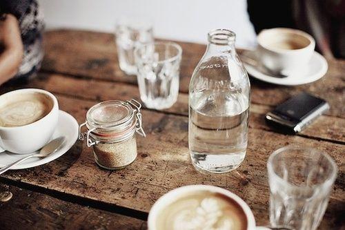 (1) Tumblr - Sunday morning.... Water + Coffee