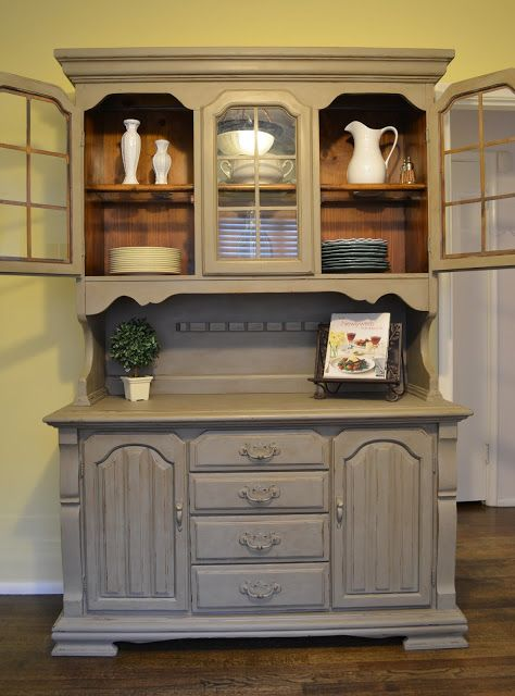 Annetique designs thrift store china cabinet make over for Artcraft kitchen cabinets