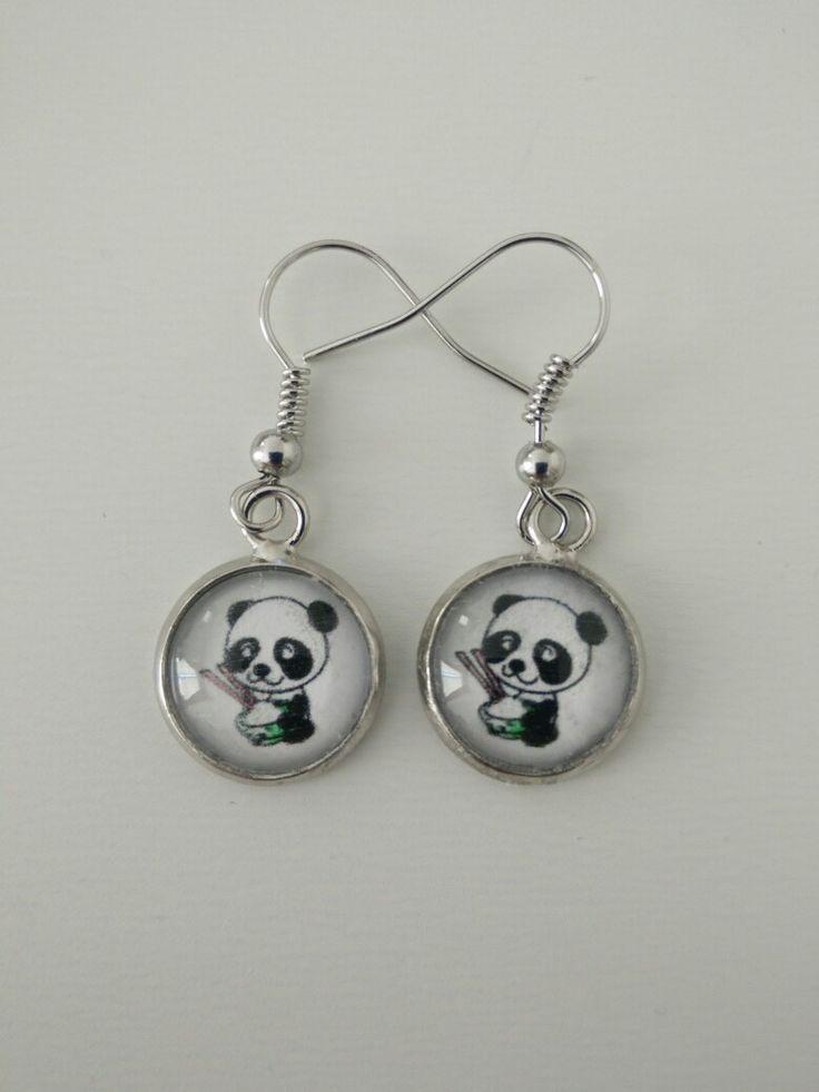 Boucles d'oreille panda #diy #french #earring