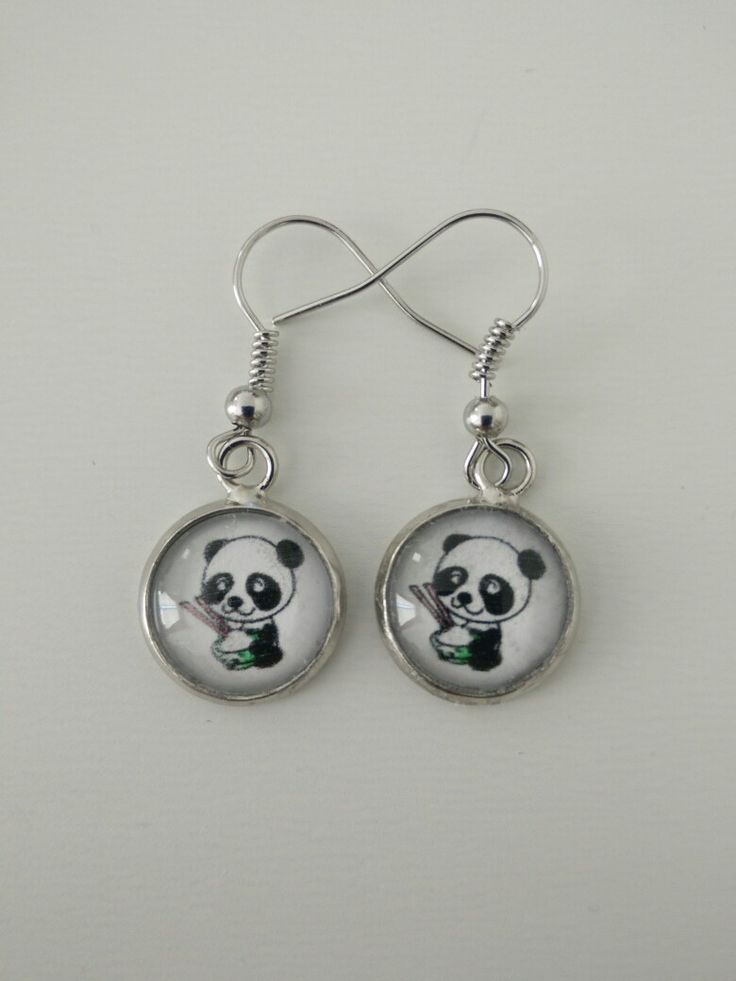Boucles d'oreille panda #diy #french #earring