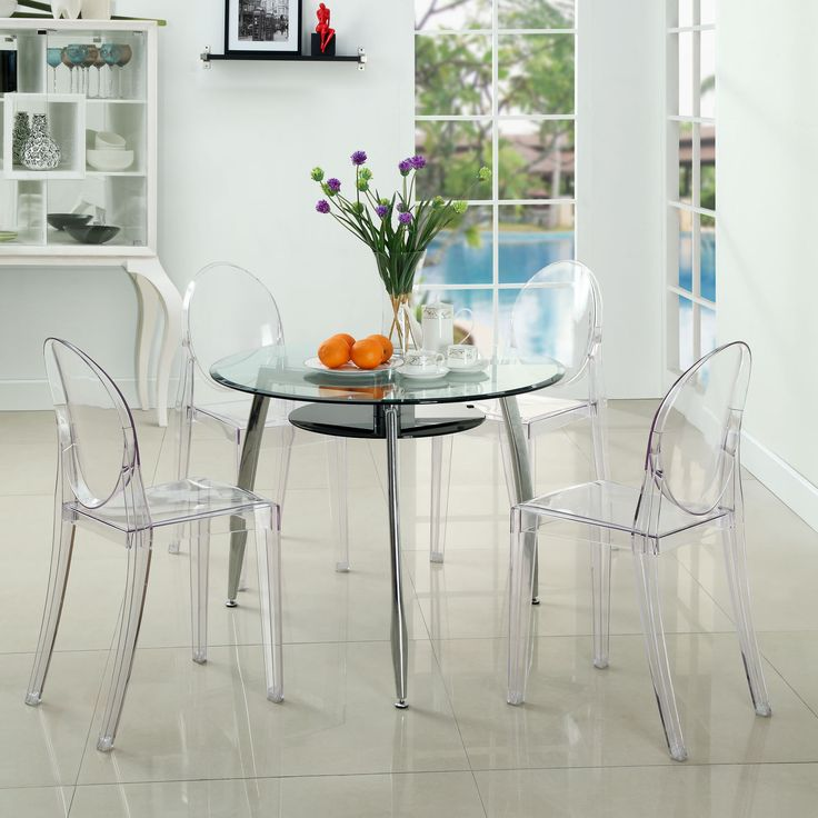 Casper Dining Chairs Set Of 4 EEI 908 CLR By LexMod #ghostchair