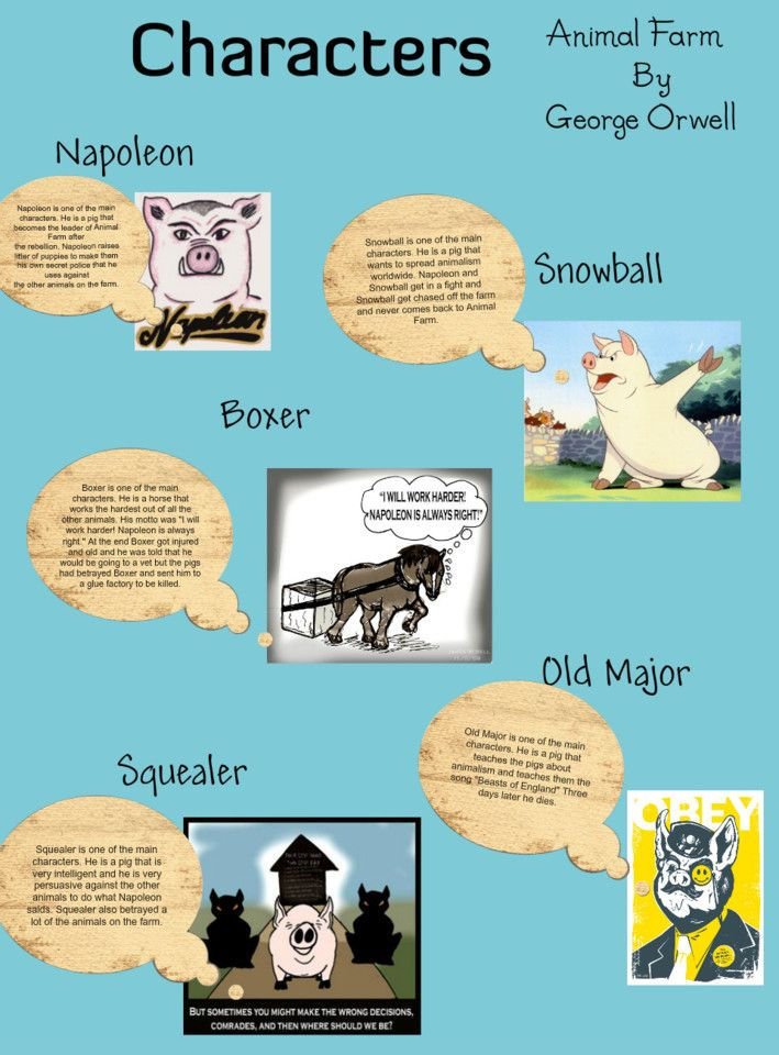 Character analysis of the major in animal farm by george orwell
