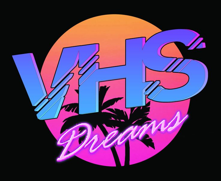 """The 80s inspired logo of another great synthwave artist - """"VHS Dreams"""""""