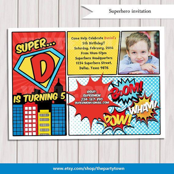 Die Besten 25+ Superhelden Geburtstag Ideen Auf Pinterest, Einladungs.  Einladungskarten ...