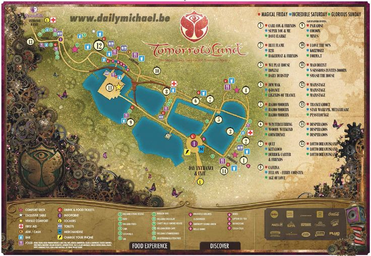 Tomorrowland 2014 map & line-up with set times