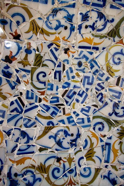 Gaudi mosaic 6 by quinet, via Flickr  Barcelona, Spain http://www.nomad-chic.com/the-architecture-of-style-balmain.html