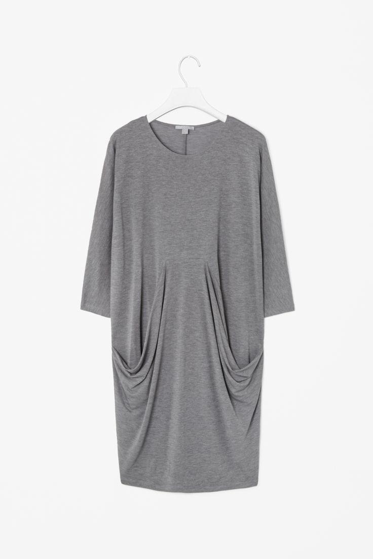 Dress with draped pockets