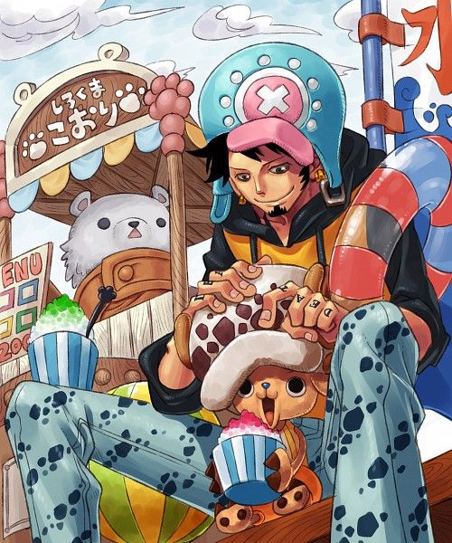 Law, Chopper and Bepo By Keiko Rin