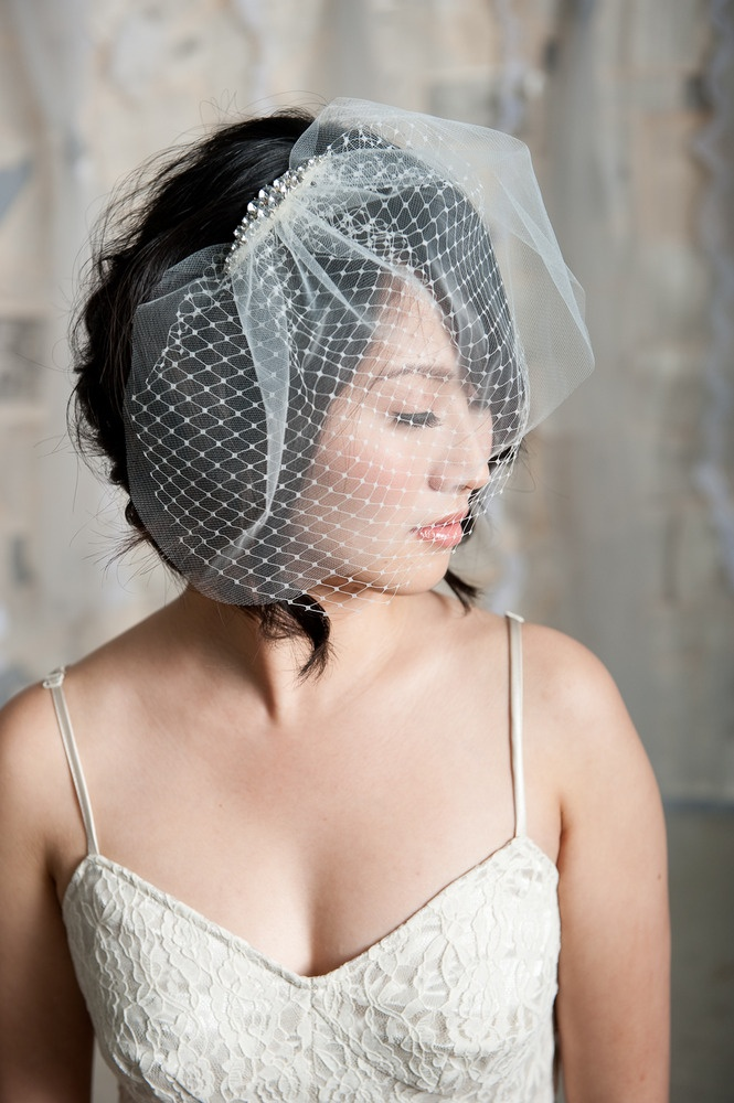 Mini double layer birdcage veil | Birdcage veils ...