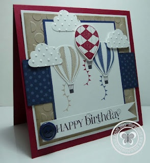 Cute card with cupcake punch clouds. Like the textures. #stampinup