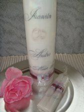personalised wedding candles & candle gifts, order yours from www.ietsienice.co.za