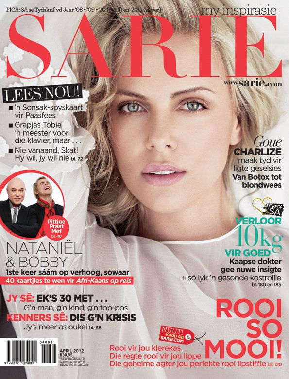 Our beautiful April cover - Charlize Theron