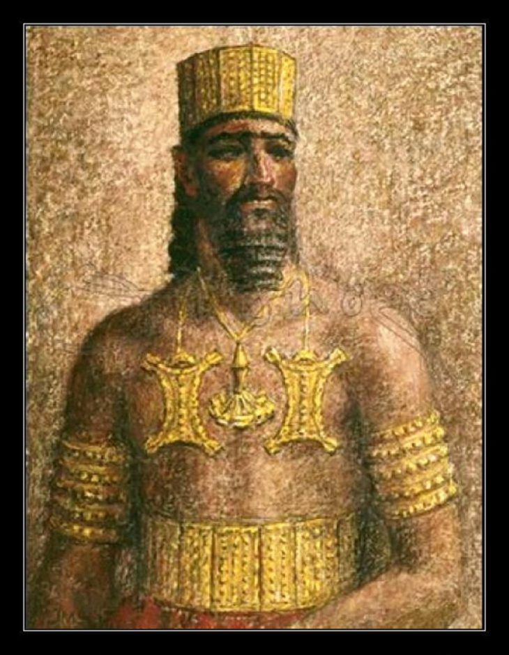 SPAIN / IBERIA (Pre-Roman Spain) Argantonio, King of Tartessos. (The golden man).  According to the Greek historian Herodotus, King Arganthonios ruled Tartessia for 80 years (from about 625 BC to 545 BC) and lived to be 120 years old. This idea of great age and length of reign may result from a succession of kings using the same name or title. Herodotus says that Arganthonios warmly welcomed the first Greeks to reach Iberia, a ship carrying Phocaeans.