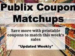 Save Money at Publix by using coupons to match up with this week's sales!