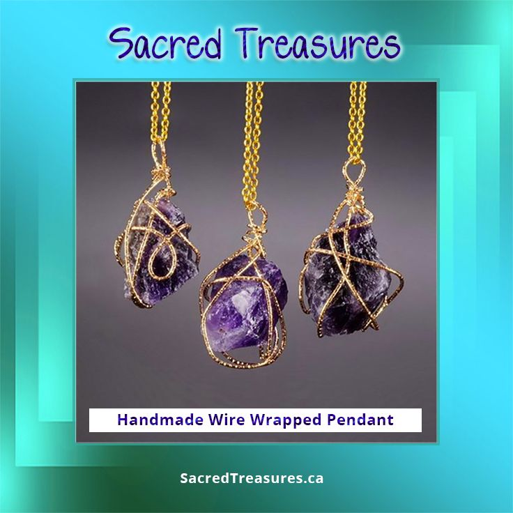 Unique handmade wire-wrapped #pendant #necklace in #Amethyst, #Fluorite, and #RoseQuartz. ****************  #gemstones #crystals #shopcanadian #jewelry #jewelery #pendants #freeshipping