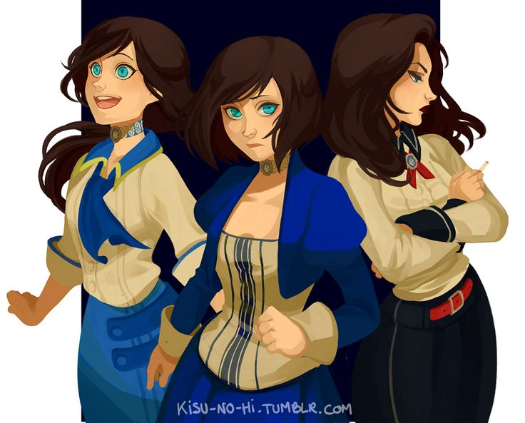 Elizabeth from Bioshock: Infinite, by Kisu-no-hi on tumblr.