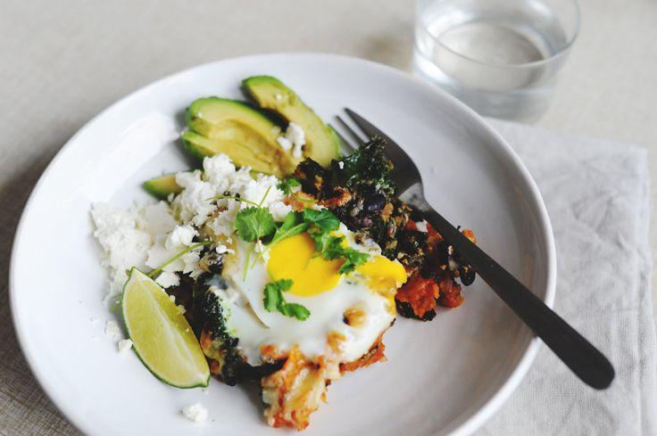 Recept: Chilaquiles med svarta bönor