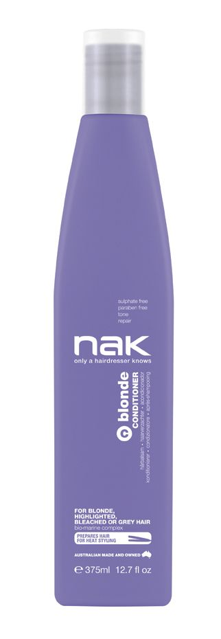 nak blonde conditioner / designed for blonde, highlighted, chemically lightened or grey hair #sulphatefree #parabenfree #tone #shine