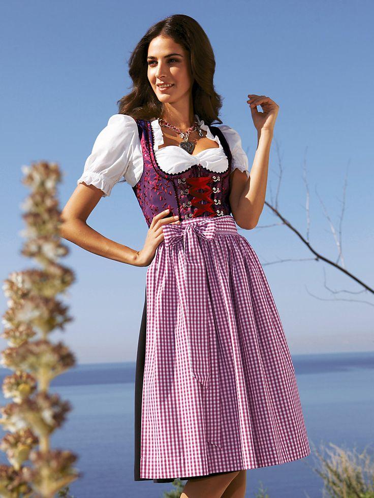 Hammerschmid dirndl dress in purple-black-white <3