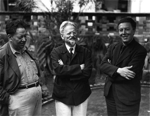 Manuel Álvarez Bravo - Diego Rivera, Leon Trotsky and André Breton, Mexico, c.1930s