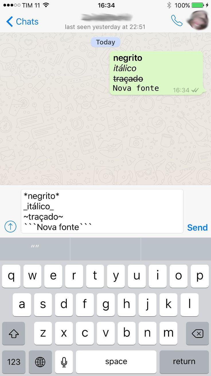 WhatsApp é atualizado com nova fonte; saiba como usar