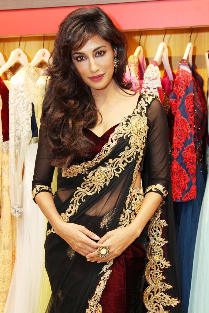 Chitrangada Singh sari, hair/makeup, jewelry