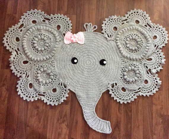 Crochet Elephant Rug By Heartfulcrochet On Etsy Elephant