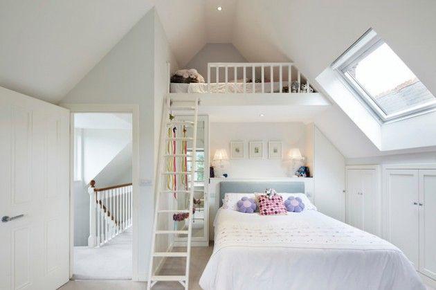 17 Grossartige Ideen Fur Die Renovierung Ihres Ungenutzten Lofts Dachgeschoss Schlafzimmer Schlafzimmer Design Kleines Loft