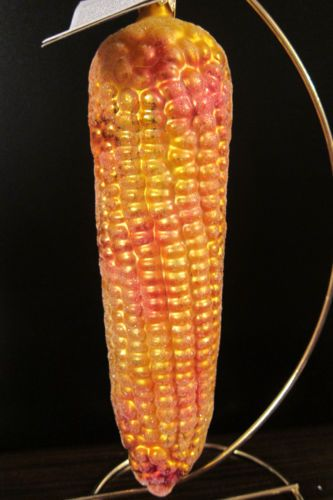 Christopher-Radko-NATIVE-BLAND-Vintage-Christmas-Corn-Ear-Ornament-Rare