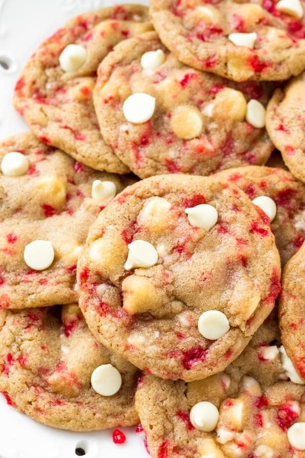 White Chocolate Candy Cane Cookies Recipe Food White Chocolate