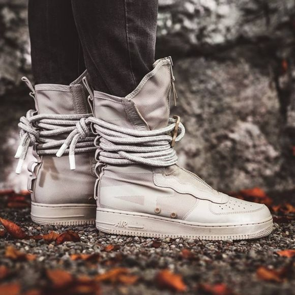 New Nike Sf Air Force 1 High Rattan Boots Tan Nike Shoes Shoe Features Nike Sf Af1