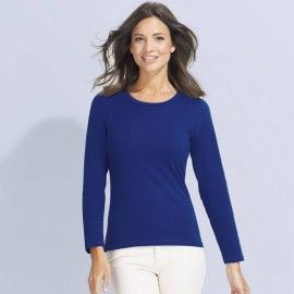Tee shirt femme manches longues Majestic
