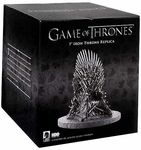 Name: Iron Throne Mini Replica Manufacturer: DARK HORSE COMICS Series: Game of Thrones Release Date: March 2013 For ages: 4 and up UPC: 761568213171 Details (Description): This month, we continue our new line of products based on HBOs award-winning television series Game of Thrones.   First up, is a fantastic mini version of the Iron Throne replica. Based on the same sculpt as our now sold out 14 Iron Throne replica, this marvelously crafted 7 version captures nearly all the same details in…
