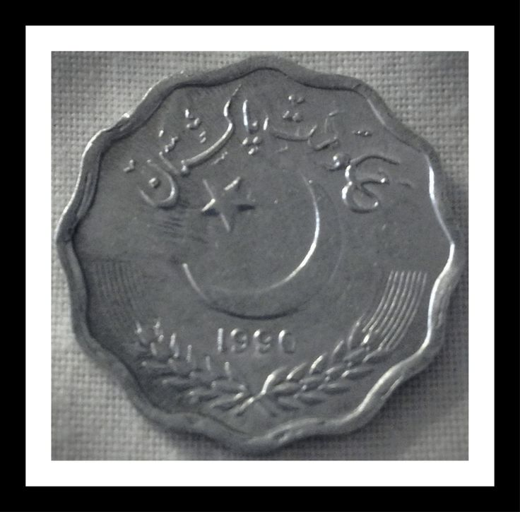 Pakistan 10 paisa 1990 Condition VF.  After partition from India in 1947,  the new state of Pakistan was established and the same year the Pakistani Rupee (روپیہ)  was introduced.  Since independence the coins that have circulated are the paisa, pie, pice and paise.   For this and more Pakistani coins, please visit AlbaCoins.com	 #pakistan #coins
