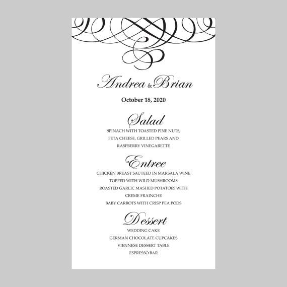 The 25+ best Menu card template ideas on Pinterest Restaurant - dinner party menu template