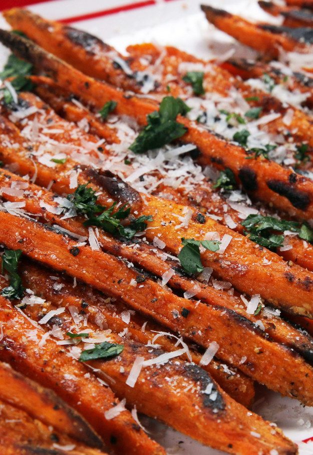 Bake a bunch of sweet potato fries for a side dish.   25 Ways To Trick Yourself Into Eating More Vegetables