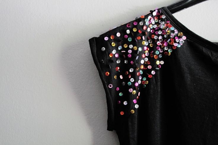 be miau now: DIY: paillette shoulders