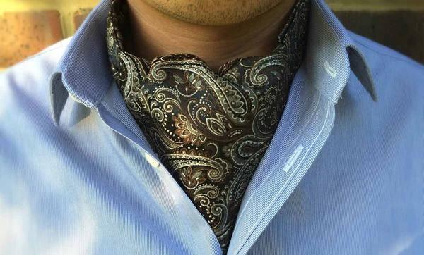 CASSIUS Woven Silk Cravat  #menswear #style #cravat #ascot #cravats #silkcravat #ascottie #ascots #silkascot #silkcravats #mens #fashion #dapper #dandy #groom #wedding #groomswear #weddingidea #weddinginspiration #brown #cream #paisley