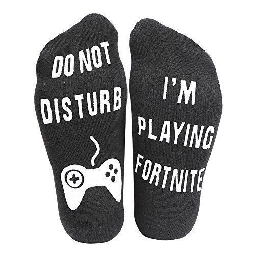 Do Not Disturb I M Playing Fortnite Funny Ankle Socks Great Gamer Gift For Gifts Gamer Gifts Funny Socks Socks