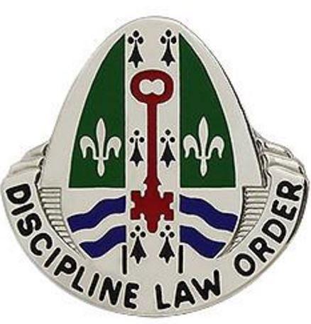 204th Military Police Battalion Unit Crest (Discipline Law Order)