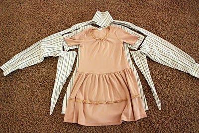 little girl dress made from man button up shirt