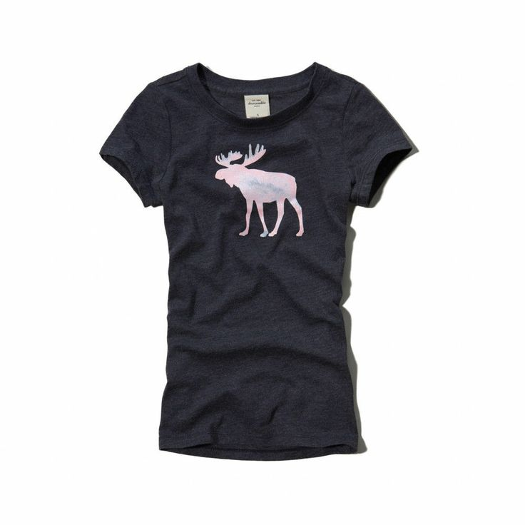 Abercrombie Kids Girls! New Navy Blue Logo Graphic Slim Fit  T-Shirt~Medium #AbercrombieKids #Everyday