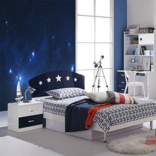 Fotomural impreso en vinilo con una imagen del cielo estrellado. Masquevinilo.com