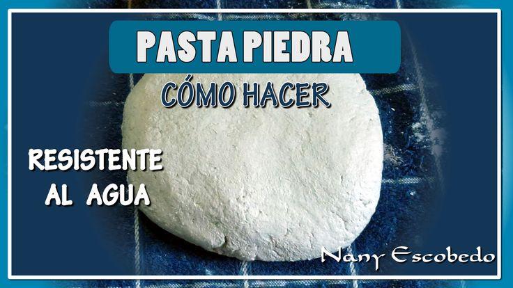 CÓMO HACER PASTA PIEDRA (OTRA FORMA)