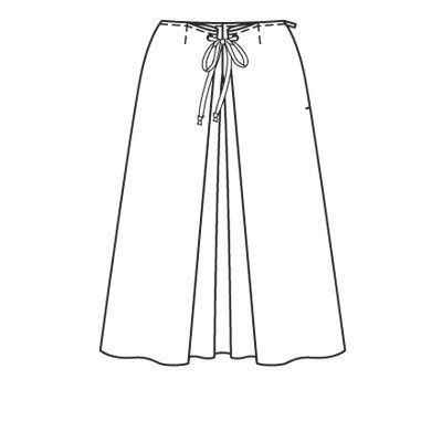 Юбка - выкройка № 121 A из журнала 6/2008 Burda – выкройки юбок на Burdastyle.ru
