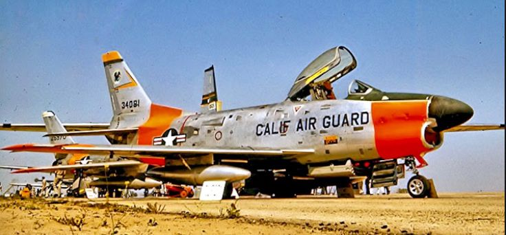 an f 86d from the california air national guard california air f 86