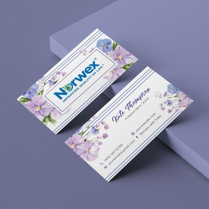 Norwex Business Cards Personalized Norwex Template Nw02 Custom Business Cards Norwex Personal Cards